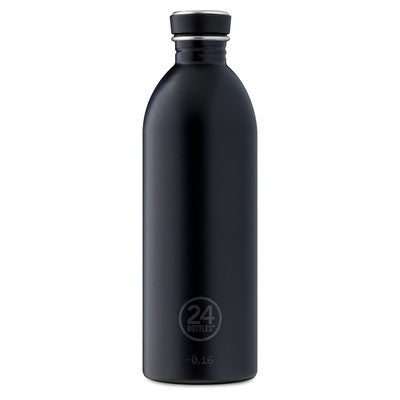 24 Bottles Stainless Steel Drink Urban bottle  1000ml //  Tuxedo Black