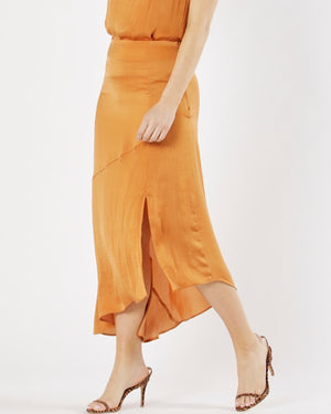Fate and Becker // Sunset Boulevard Midi Skirt  // Apricot //