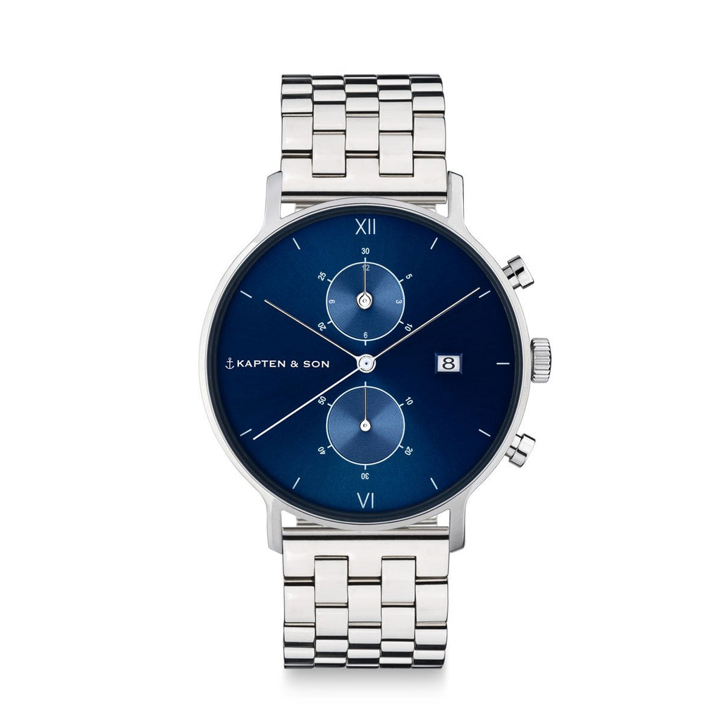 Kapten and Son Watch // Chrono Silver Blue Steel