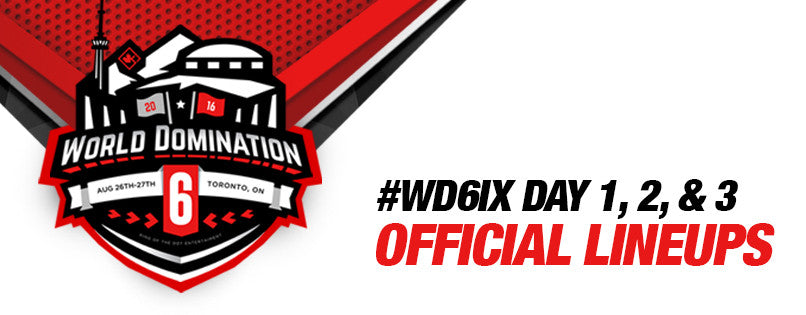#WD6ix Official Lineup (Day 1, 2 & 3)