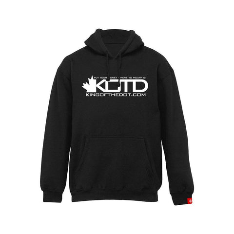 Premium - KOTD Classic Hoodie - White on Black