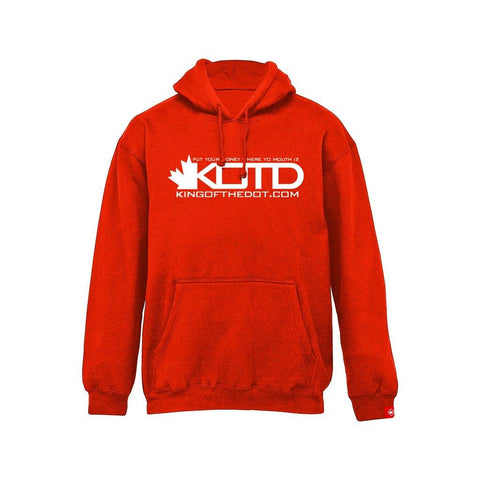 Premium - KOTD Classic Hoodie - White on Red