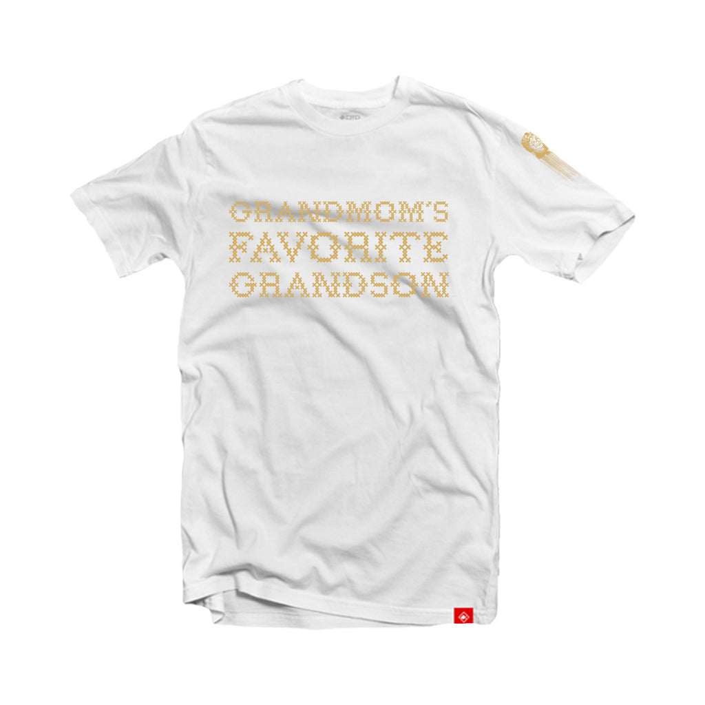 Grandmom's Favorite Grandson - T-Shirt (white)