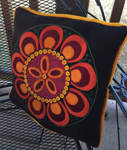 FLORAL FIRE PILLOW