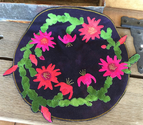 Wooly Lady Christmas Cactus Candle Mat Kit