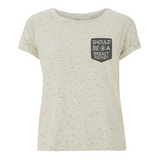 T-Shirt Damen Sommer fair Speckled Should Be