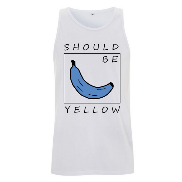T-Shirt Banane Should Be weiß