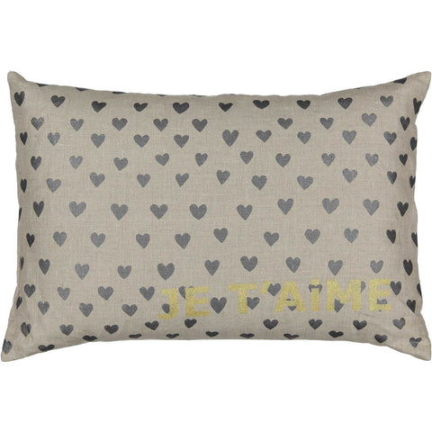 heart je t'aime carte cushion