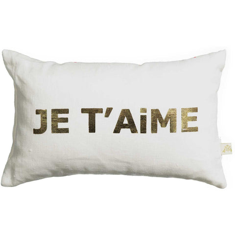 je t'aime petit carte cushion