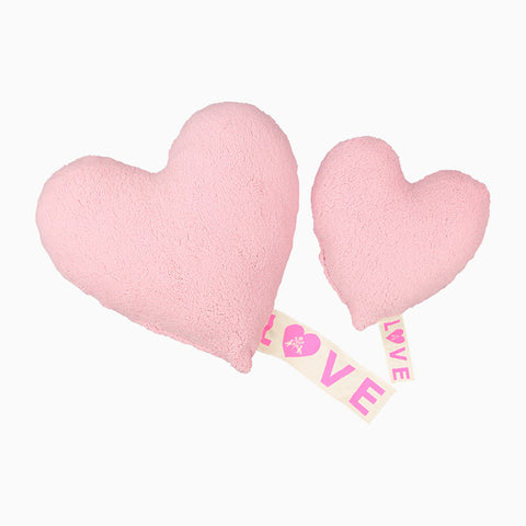 love fleece pillow (pink)