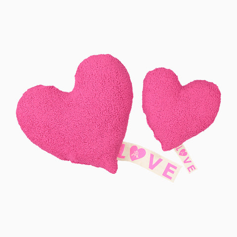 love fleece pillow (hot pink)