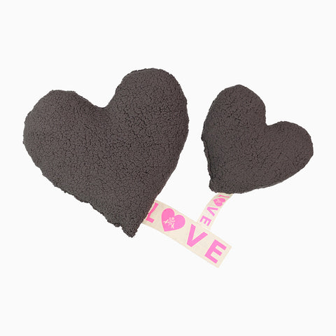 love fleece pillow (grey)