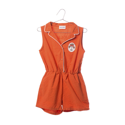 pipping tailor neck romper
