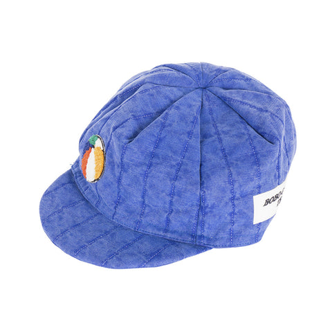 patch blue padded cycling cap