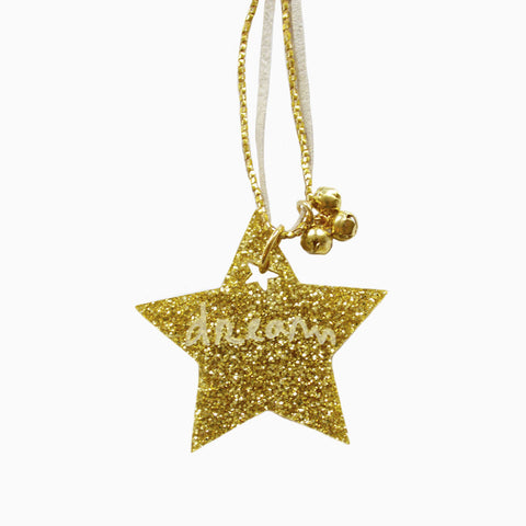 dream star necklace in gold
