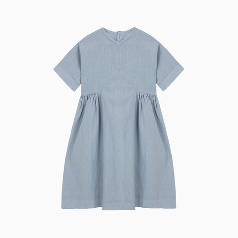 v dress (blue denim)