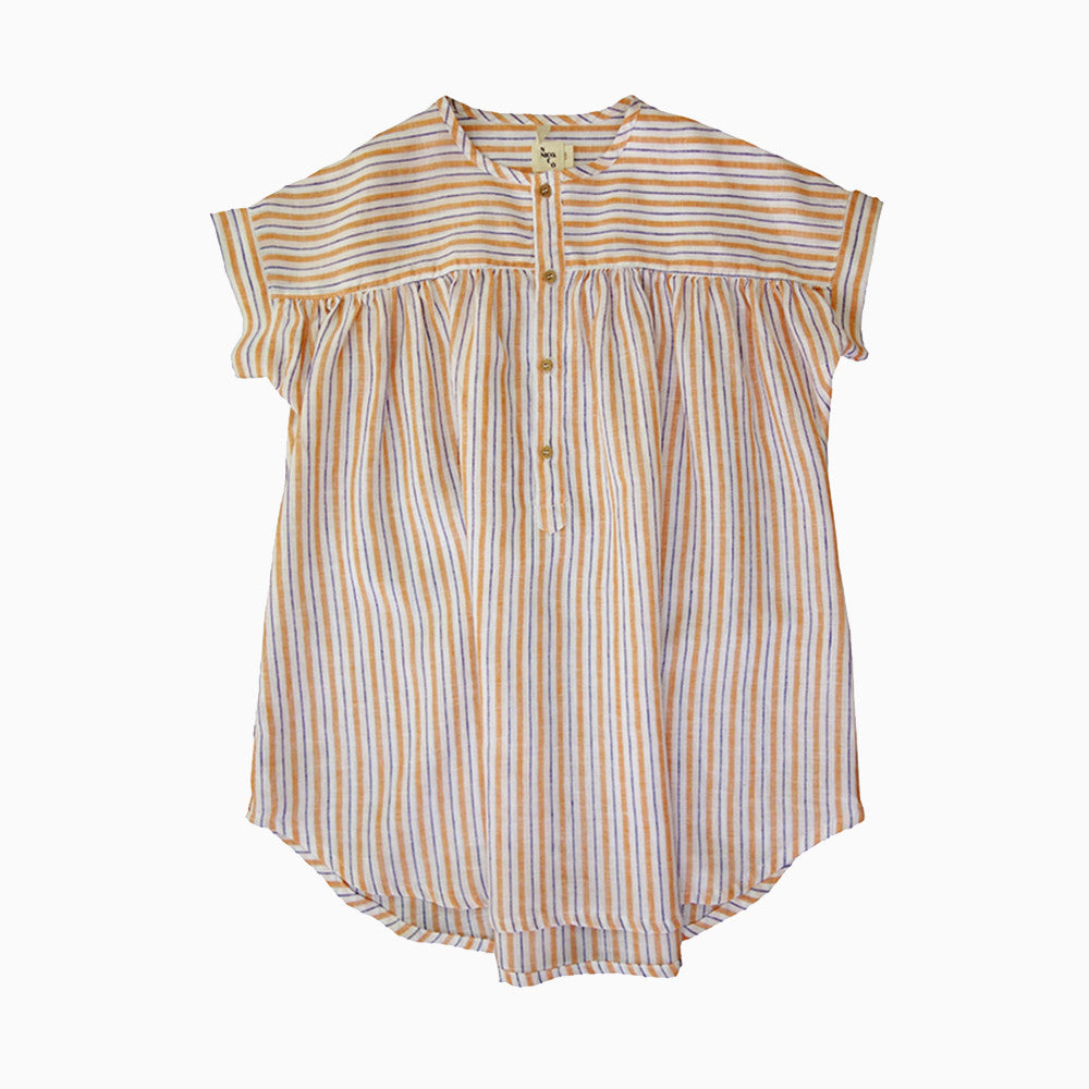 alana shirt dress (kumquat stripe)