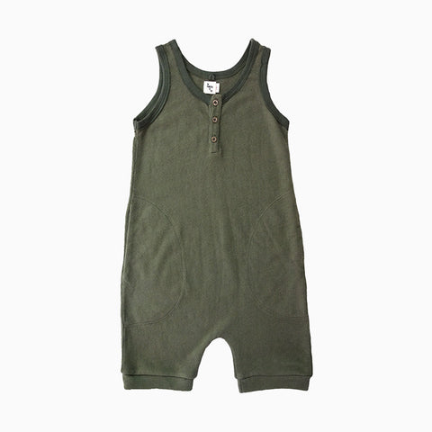 backside short romper (palm)