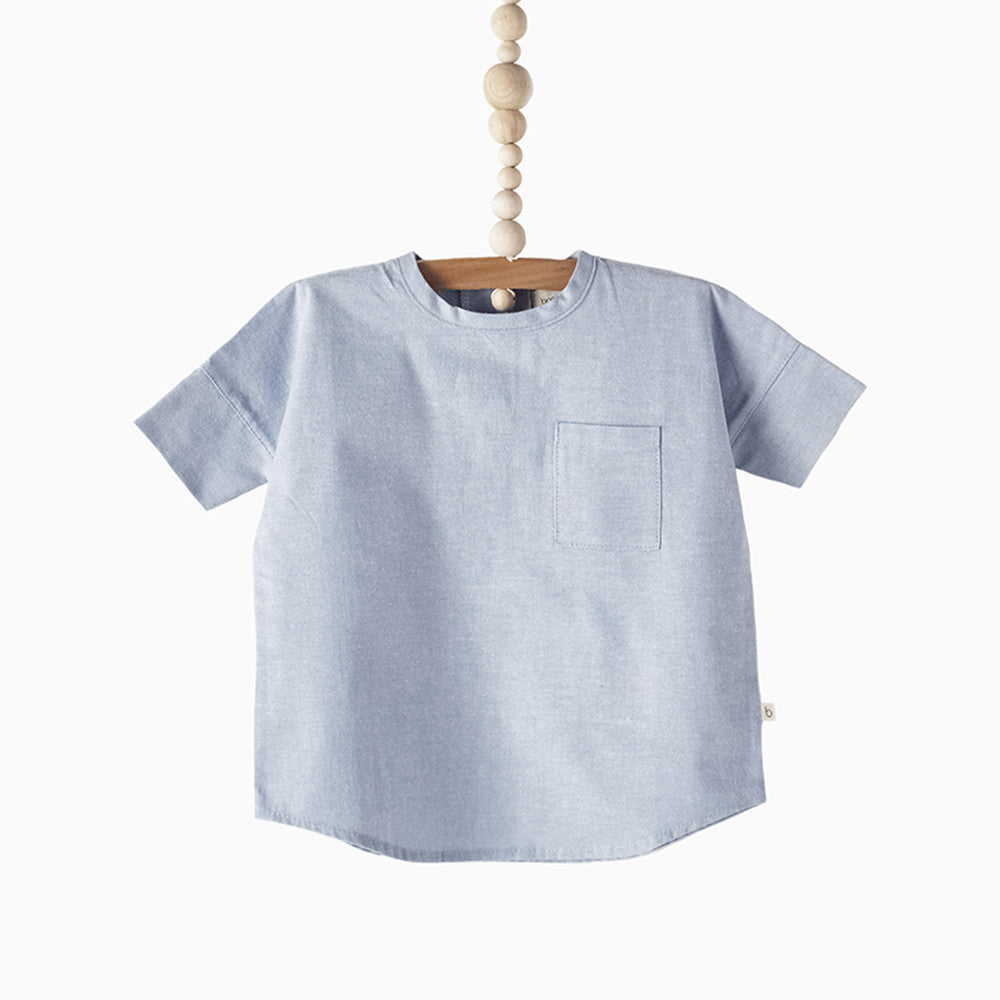 woven tee (blue oxford)