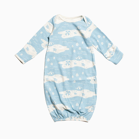 baby gown (beach day turquoise)