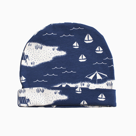 baby hat (beach day navy)