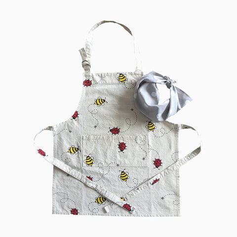 apron set (bugs and bees)