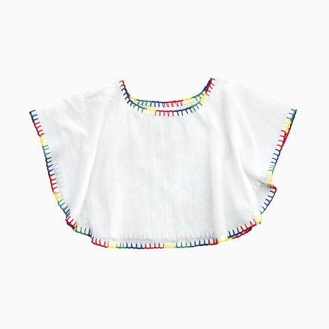 butterfly blouse (rainbow)
