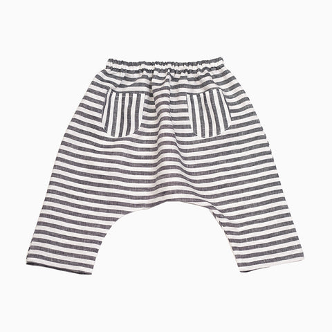 harem pants (black and white stripe)