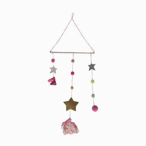 star tassel mobile (pink and gold)
