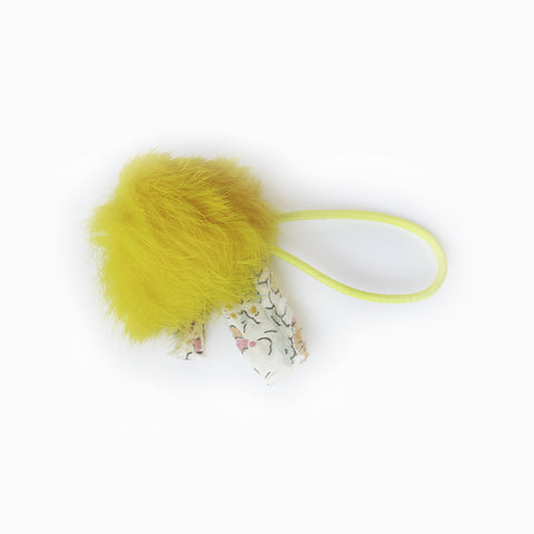 angora hair tie (yellow)