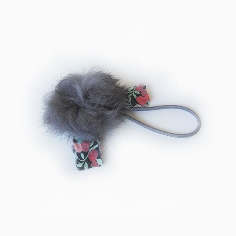 angora hair tie (dark grey)