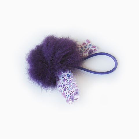 angora hair tie (purple)