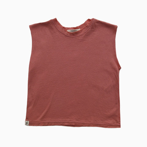 muscle tee (coral)