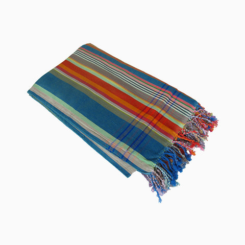 beach towel (blue and red multi)