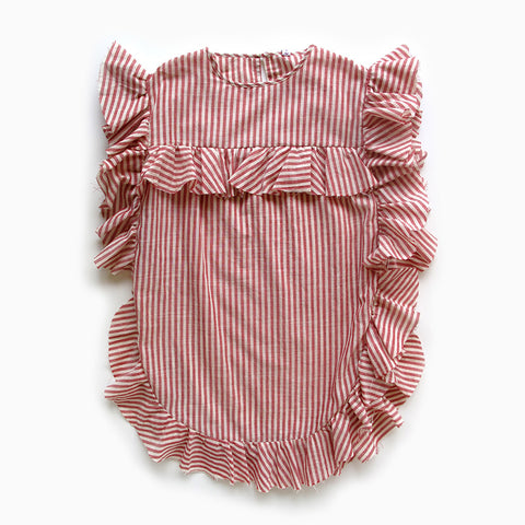 madeleine dress (red stripes)