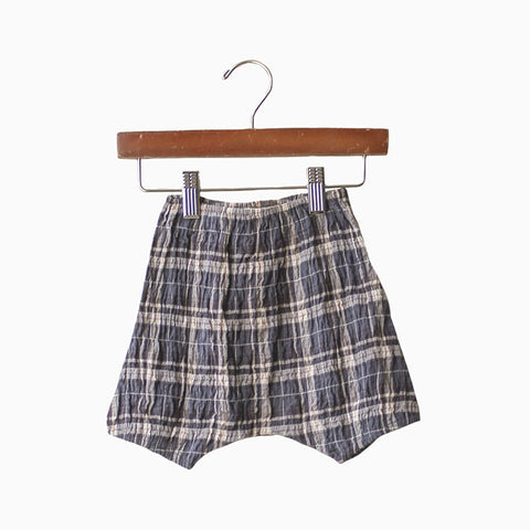 baby poppy bloomer (plaid)
