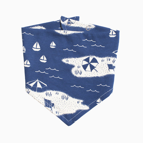 kerchief bib (beach day navy)