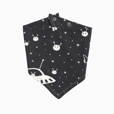 kerchief bib (outer space charcoal)