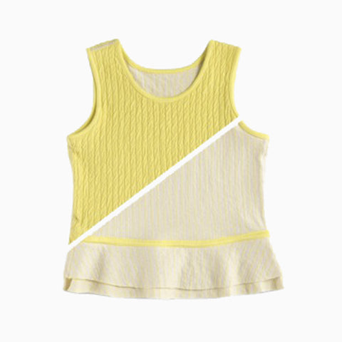 reversible crash peplum tank (armadillo)
