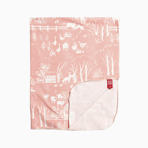 lightweight blanket (the farm next store blush pink)