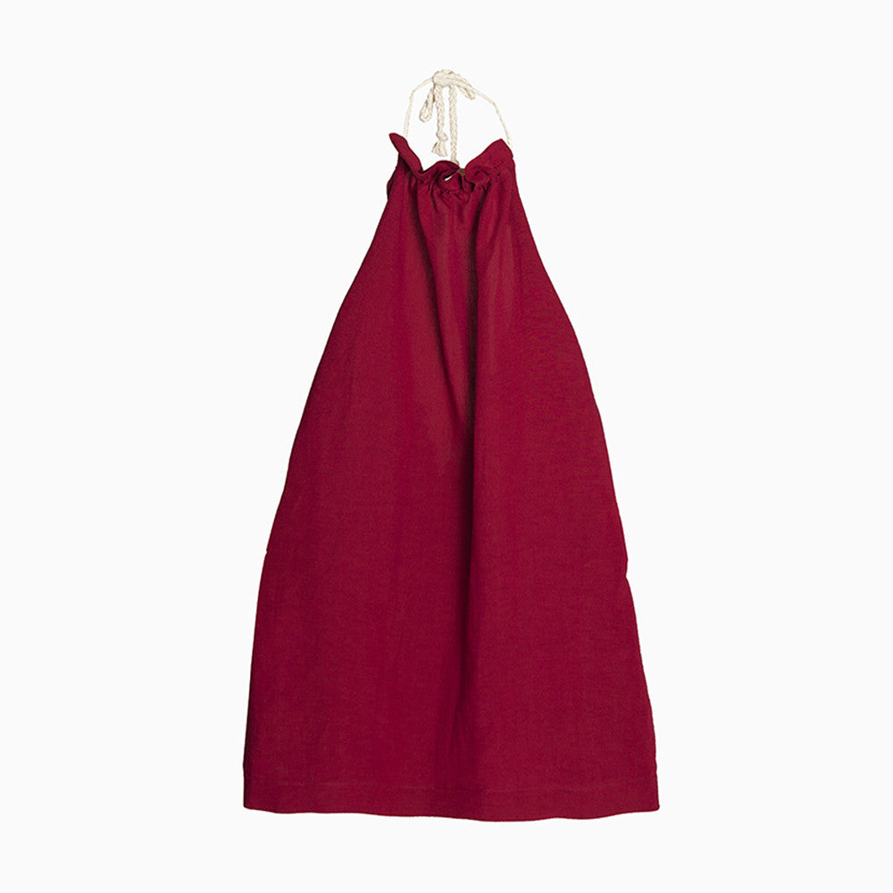 tuareg apron dress (garnet)