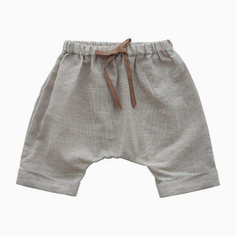 sand colored saruel shorts