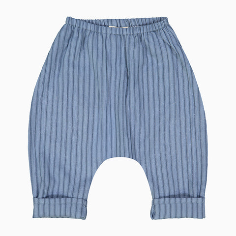 baby jungle trousers (light blue stripes)