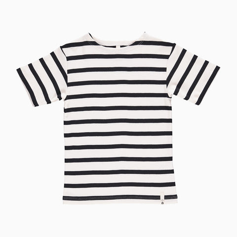 maritime short sleeve tee (white and navy)