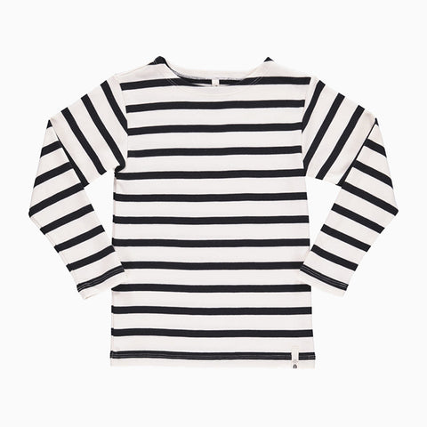 maritime long sleeve tee (white and navy)