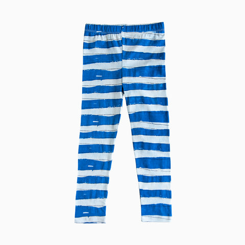 baby stripe blue leggings