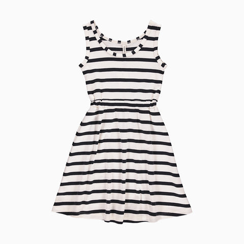 maritime tank dress (white and navy)