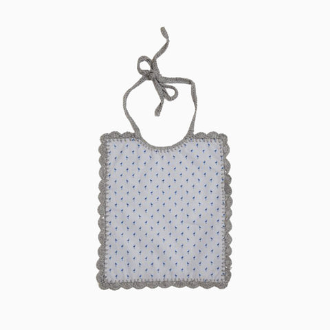 bib (grey and blue)