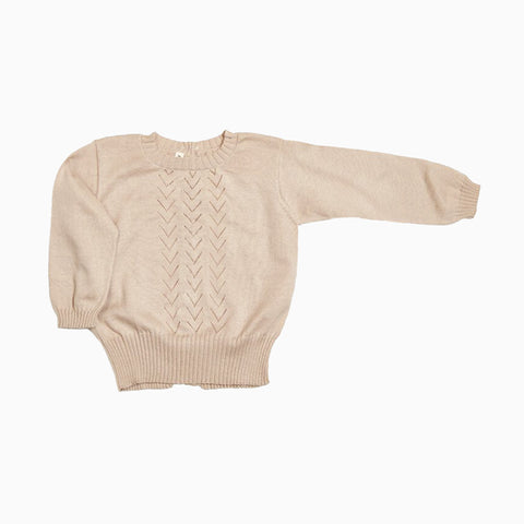 lace front sweater (shell)