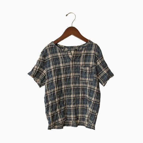 short sleeve kurta (plaid)